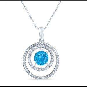 NWOT Blue Topaz Sterling Silver Necklace